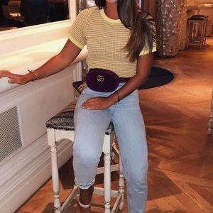Zara yellow knit top blouse
